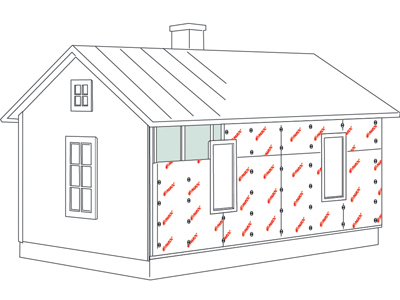 Log house, additional insulation 4