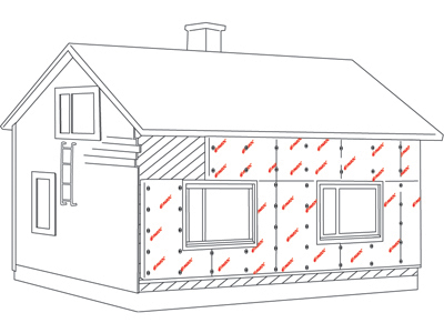 Timber frame, additonal insulation 3